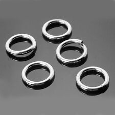 10 X Strong Solid Sterling 925 Silver 10mm Heavy Jump Rings 1.4mm Wire