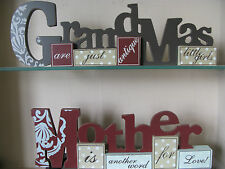 Wooden sign gift/present Christmas, mothers day, birthday -Another word for Love