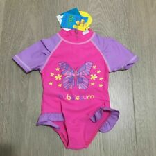 Baby Girls Kids Rashie Rash Suit 50+UV Swimwear Swimsuit Bathers Togs Sz 0 1 2 3