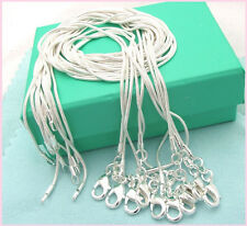 """20pcs 1mm Silver EP smooth Snake Chain Necklace 16""""~24"""" Wholesale Price"""