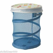 NEW IKEA MESH BASKET WITH LID RED/BLUE BABY TOYS CLOTHES STORAGE