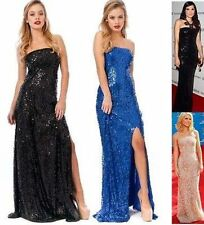 Sexy Celebrity Ladies Womans Sequin Long Party Evening Cocktail Dress