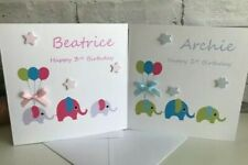 Personalised Baby Boy Girl 1st 2nd 3rd 4th 5th Birthday Card Christening Card