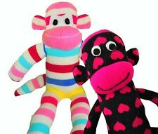 2 Sock Monkey Kits, Choose Your Socks, Boy or Girl or Both, FREE 1ST CLASS POST