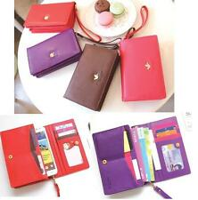 Korean cute style wallet case for Samsung Galaxy Note, S3, S2, iphone 5,4S,4