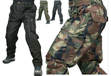 k mens windproof mortorcycle insulated lining cargo camo work trousers pants