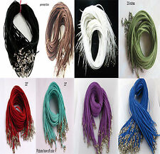 """Wholesale a lot of bulk Suede Leather String 20"""" Necklace Cord pgx079"""