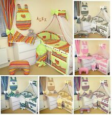 EXCLUSIVE 11 PCS NURSERY BABY BEDDING SET  FOR COT/COTBED