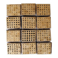 30 Mini Wooden Mounted Rubber Alphabet Stamps
