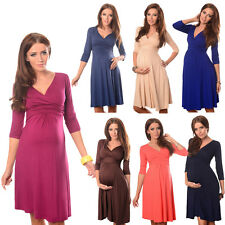 Gorgeous Maternity Dress Vneck Pregnancy Clothing Size 8 10 12 14 16 18 Top 4400