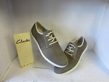 Mens Clarks Nadon Place Graphite Nubuck Leather Casual Lace Up Shoes