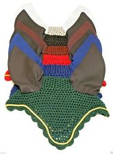 GEE TAC NEW VEIL HORSE  EAR COMPETITION Crochet FLY MASK RUG MOST COLOURS