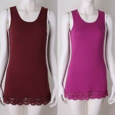 New womens clothing long trim lace cami tank tops,camisole and shirts,size S,M