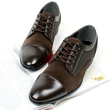 New Mens Dress Formal Casual Mens Oxford Shoes Brown