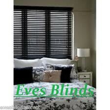 MADE TO MEASURE BLACK Blinds Bass Wood Wooden Venetian Blind
