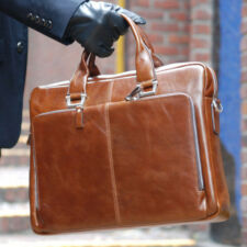 BELIVUS SSB021 CLASSIC briefcase/ high quality buffalo leather bag/ Browns_M