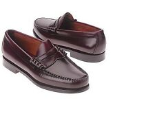 Bass Larson Mens Leather Loafers Burgundy