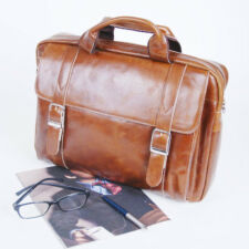 BELIVUS SSB034 Moment briefcase/ high quality buffalo leather bag/ Browns_M