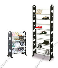 BRAND NEW BLACK 4 / 10 TIER SHOE RACK / ORGANIZER FOR 12 / 30 PAIR SHOES