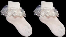 New Baby Socks -   Lace Socks - Cute Socks - White - Sizes: S-M-L ( #  E00011R)
