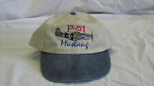 North American P-51 Mustang Warbird Airplane Embroidered Hat