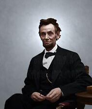 Abraham Lincoln President Color Tinted photo Civil War 19469