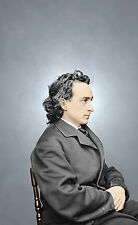 Edwin Booth Actor John Wilkes Hamlet Color Tinted photo Civil War 00480