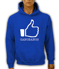 Kapuzenpullover S-XXL Hoodie I LIKE GANGBANGS ORGY Sex Fun Swinger Love Orgie