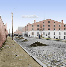Libby Prison Richmond, Virginia Color Tinted photo Civil War 02899