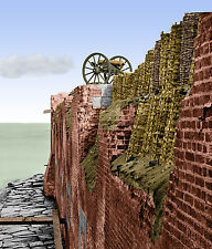 Fort Sumter SC  Breach Patched Gabions Cannon Color Tinted photo Civil War 02292