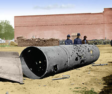 CSS Virginia II Smokestack; Richmond VA Color Tinted photo Civil War 02491