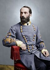 General Joseph Wheeler Confederate Color Tinted photo Civil War 05988
