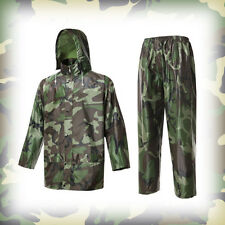Military Waterproof Rain Suits HOODED JACKET & TROUSERS SET Outdoor Hunting Camo