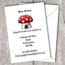 Personalised Change of Address/New Home Cards. Pack of 10,20,40,50 Gloss Card