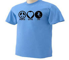 Peace Love Ski Skiier Downhill Skiing Snow Sport T-Shirt
