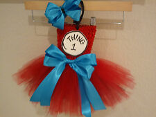 THING ONE OR TWO tutu dress costume birthday party halloween 0-24 mos