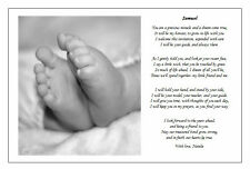 ♥ Personalised Childs/Babies Naming day Ceremony Poem gift ♥ Non-religious