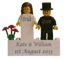 **Personalised LEGO Bride & Groom** PICK YOUR HAIRSTYLE & HEAD *FREE P&P*
