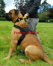 Easy Walk Dog Harness for Boerboel and Large Dogs, New Black Strong Nylon