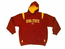 IOWA STATE CYCLONES ADULT RED/YELLOW EMBROIDERED HOODED SWEATSHIRT NWT*