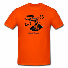 LIVE FAST 55 BEL AIR BELAIR CHEVY CAR CLASSIC ANTIQUE HOT ROD T-SHIRT