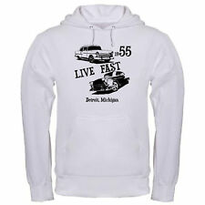 LIVE FAST 55 BEL AIR BELAIR CHEVY CAR CLASSIC ANTIQUE HOT hoodie hoody