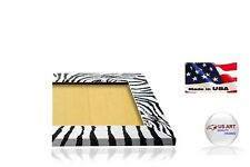 Zebra Flat Black & White  Picture Poster Photo FRAME  Wood Composite 11 in WIDE
