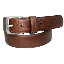 POLO RALPH LAUREN NICKLE BUCKLE DARK BROWN STITCHED LEATHER BELT $95+