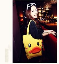 New Semk B Duck B.DUCK Shoulder Canvas Shopping Bag Tote 3D Rubber Mouth Bag