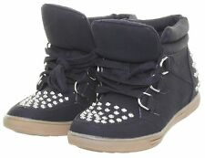 Libra Pop Women's Hi Top Studed Sneakers Trainers Ankle Lace Up  Boots
