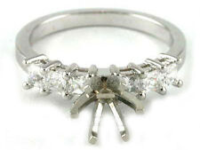 18K WHITE GOLD CLASSIC PRINCESS DIAMOND ENGAGEMENT RING SOLITAIRE SETTING