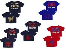 Victoria's Secret PINK Bling T-Shirt baseball.RED SOX,PHILIES,BREWERS,CUBS,TWINS