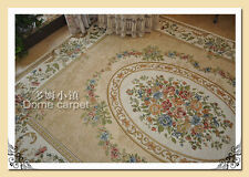 French Country Victorian Traditional Classic Floral Cream Floor Rug Area Carpet