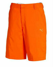 PUMA Golf Mens Tech Bermunda Golf Shorts Orange Black White pick size and color